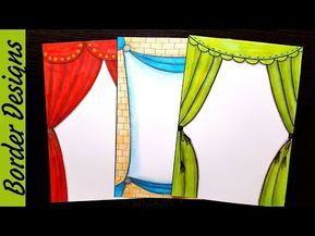 Curtain Border Designs On Paper Border Designs Project Work Designs Borders For Projects Yout Borders For Paper Border Design Colorful Borders Design