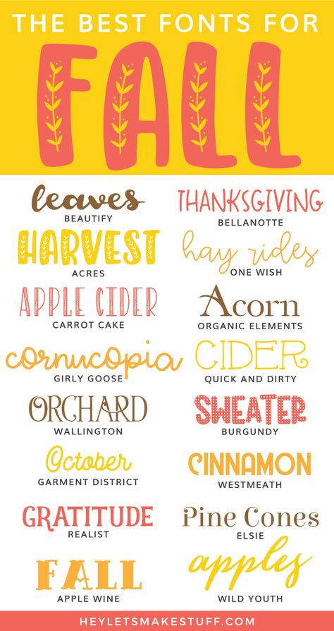 Let's get crafting and designing for fall! These cheap and free fall fonts are perfect for all of your cutting machine crafts, including hoodies, mugs, scarves, and more! Grab your apple cider and start crafting!
