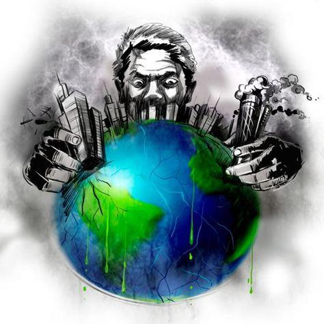 تلوث البيئة موضوع تعبير عن أسباب ومشاكل تلوث البيئة وحلولها أبحاث نت Global Warming Art Earth Drawings Mother Earth Art