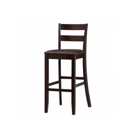 Counter Height Bar Stool Wood Kitchen Barstool Chair Espresso