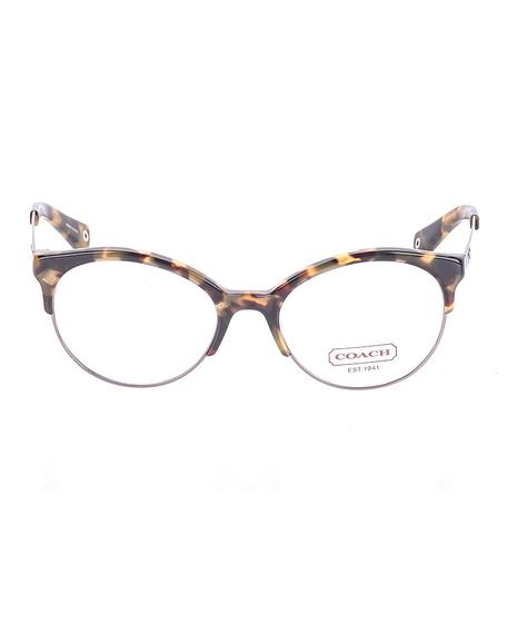 Coach Dark Brown Vintage Tortoise Lourdes Eyeglasses