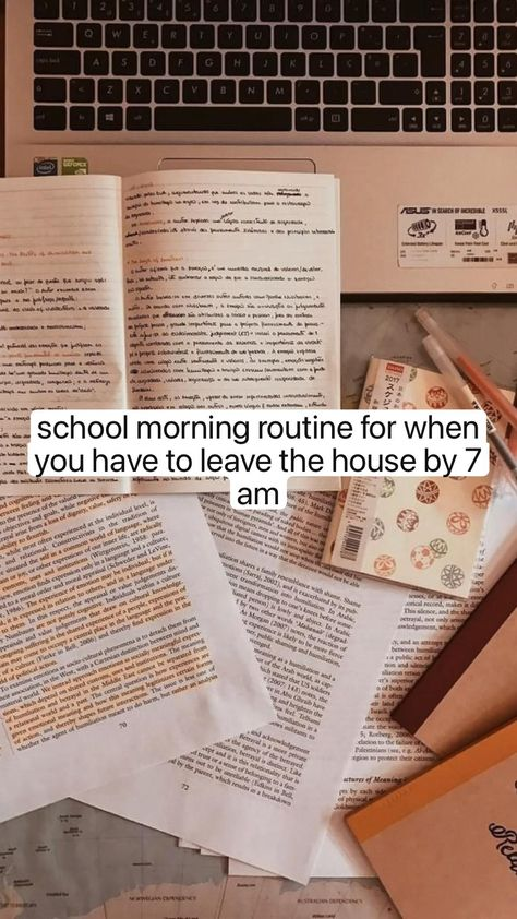 school morning routine for when you have to leave the house by 7 am