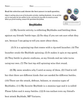 STAAR Writing Grammar Practice - Beyblades | Expository ...