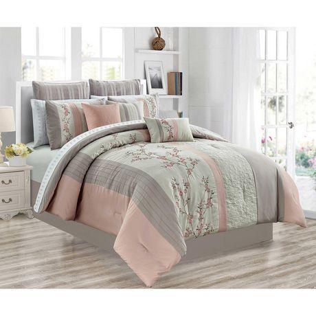 Saf Co Comforter Set 7pc D Celina, Queen Bed Comforter Sets Canada