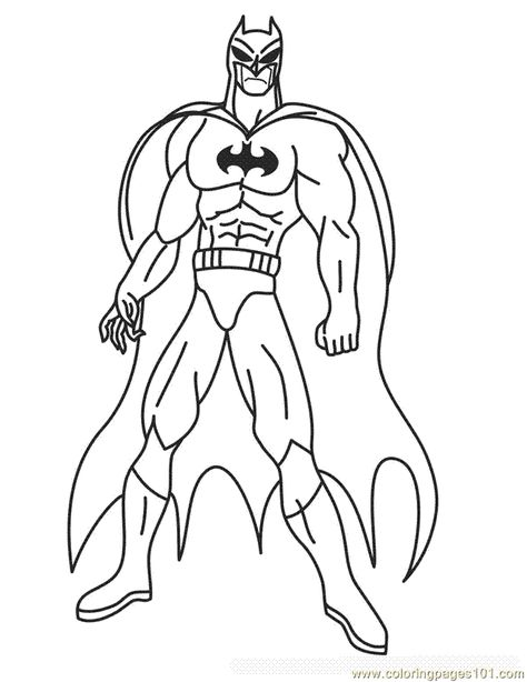 photo about Printable Batman Coloring Pages called Pinterest