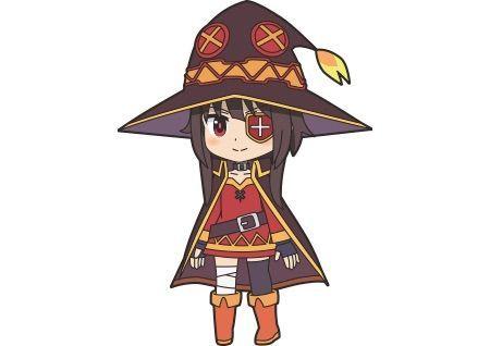Megumin Va Rie Takahashi From Anime Isekai Quartet Manga Tokyo Anime Chibi Anime Anime Characters