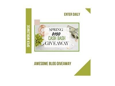 Spring Cash Bash Giveaway Ends May 14th Blog Giveaways Holiday Gift Card Cash Gift Card