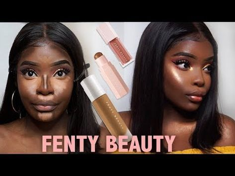 Fenty Beauty Dark Skin Makeup Tutorial Youtube Dark Skin Makeup Tutorial Skin Makeup Dark Skin Makeup