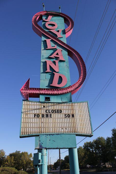 Wichita, Kansas  Joyland, an abandoned amusement park. The park operated from 1949 to 2004.  Something creepy about abandoned amusement parks.