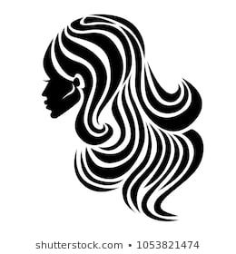 Vector Illustration Of Logos Neon Woman With Beautiful Hair Can Be Used As A Logo For Beauty Salon Fashion Beauty Style Logo Illustration Icone Immagini