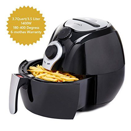 Finnhomy 3 7 Quart Air Fryer Hot Air Fryer With Timer Temperature Control Dishwasher Safe Non Stick Fry Basket Oil Free Air Cooke Air Fryer Cooker Oil Free