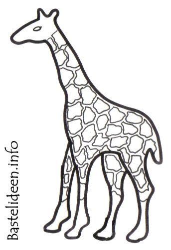 bastelvorlage giraffe 1045 malvorlage giraffe ausmalbilder