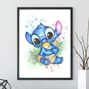 Pink Stitch Angel Lilo And Stitch Watercolor Art Print Etsy In 2021 Stitch And Angel Angel Lilo And Stitch Stitching Art
