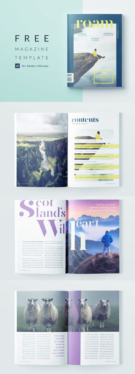 Stylish Travel Magazine Template for InDesign | Free Download