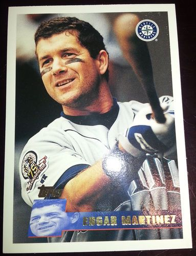 1996 Topps - Edgar Martinez - DH-3B - #247 - Seattle Mariners