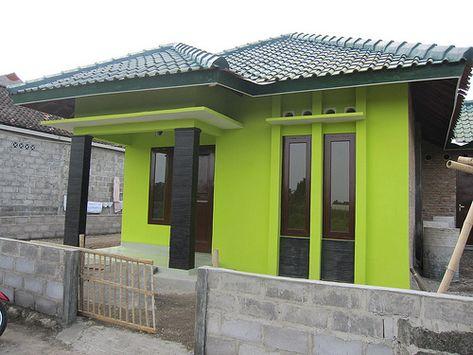 rumah minimalis warna hijau alpukat - desain rumah