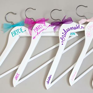 Simple DIY Wedding Weddings And Future - Diy vinyl wedding hangers