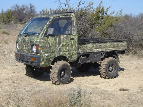 Mini Trucks ...are like midgets with camo. Yes, you're doing it right! www.premiumcrossbows.com
