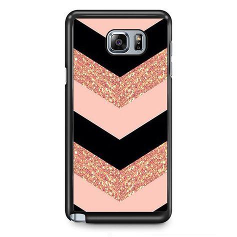 Pink Glitter Chevron TATUM-8682 Samsung Phonecase Cover Samsung Galaxy Note 2 Note 3 Note 4 Note 5 Note Edge