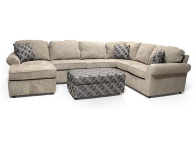Miranda Sectional With Storage Ottoman Storage Ottoman
