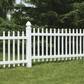 Freedom Pre Assembled Newport 3 Ft H X 8 Ft W White Vinyl Gothic Vinyl Fence Panel Lowes Com Vinyl Fence Panels Decorative Fence Panels Fence Panels