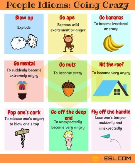 Idioms For Going Crazy Idioms And Phrases Idioms English Idioms