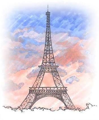 Epingle Par Muriklem Sur Aquarelle Tour Eiffel Dessin Et Art