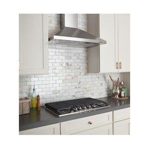 Whirlpool 36 In Convertible Stainless Steel Wall Mounted Range Hood Lowes Com Range Hood Steel Wall Kitchen Ventilation