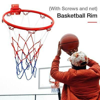 Advertisement Ebay 32cm Diameter Sports Hanging Basketball Frame Basketball Rim With Screws And Net In 2020 Basketball Rim Basketball Goals Indoor Kids