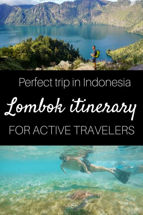 Lombok itinerary for active travelers. Help yourself with our itinerary and plan your next holiday in Lombok Island, Indonesia. This one is for people seeking active holiday.   lombok itinerary   things to do in Lombok   2 weeks in Lombok   bali vs. lombok   what to do in Lombok   #lombok #indonesia #activeholiday #surfing #adventure #outdoor