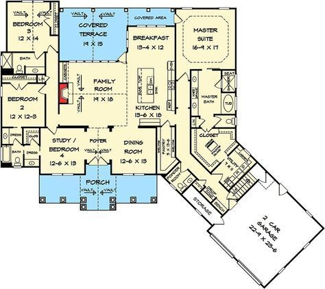 Plan 36032dk Craftsman House Plan With Angled Garage Craftsman House Plan How To Plan Floor Plans