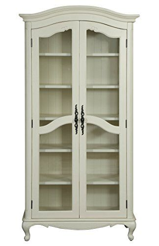 Provence 2 Glass Doors Bookcase Antique White Formosa L Https