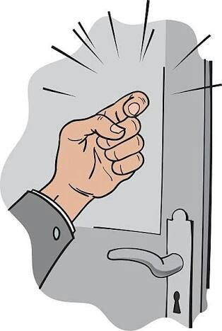 KNOCK He can knock on the door of your house. | Action words ...