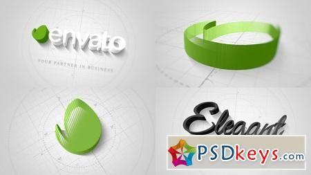 Technical Elegant Logo 3D Opener 22066596 After Effects