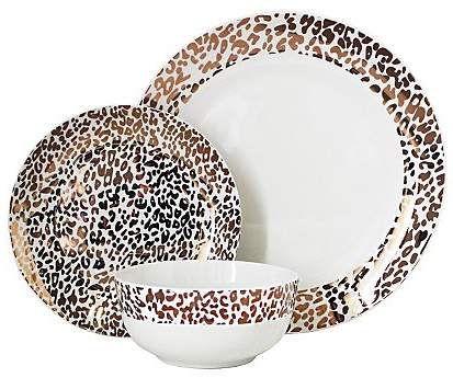 George Home Leopard Print Dinner Set Dinner Sets George Home Decorative Plates