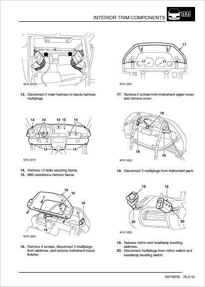 Repair Work Manual, Freelander Wiring Diagram Pdf