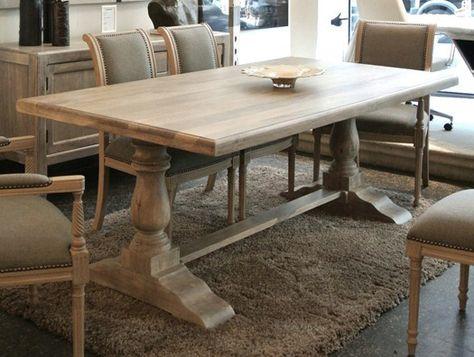 Turned Tressel Table Legs 7 X 24 Tressel Dining Table