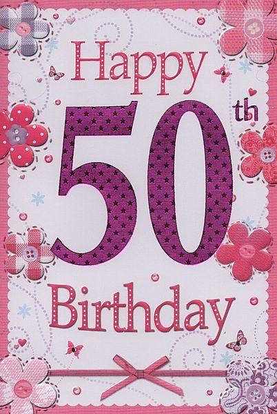 birthday card 50th Cerca con Google Birthday card th