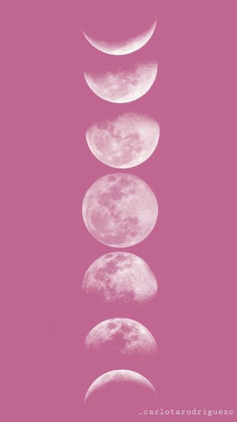 #fondos #luna #rosayblanco