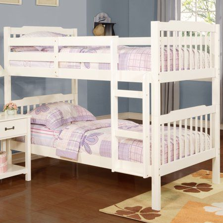 Free Shipping Buy Chelsea Lane Elise Convertible Twin Over Twin Wood Bunk Bed Multiple Finishes At Walmart Com Wood Bunk Beds Kids Bunk Beds Bunk Beds