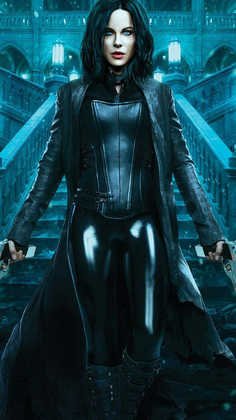 Badass beauty, Kate Beckinsale as Selene out to end the long, violent wars between the Lycan clan and the Vampire faction who betrayed her in Underworld: Blood Wars.