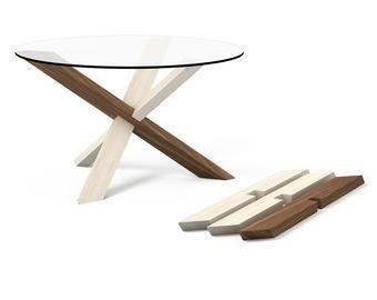 2x3 Runder Couchtisch Aus Holz Puzzle Runder Glastisch Round Wooden Coffee Table Round Glass Table Wooden