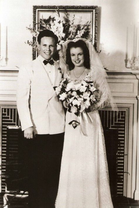 Norma Jeane's first wedding 16 years old