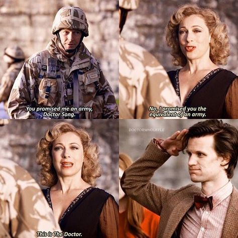 Image in Doctor Who collection by Dan on We Heart It Imagen de doctor who, matt smith, and alex kingston Eleventh Doctor Quotes, Doctor Who Quotes, Tenth Doctor, Geronimo, Doctor Tumblr, Matt Smith Doctor Who, Doctor Who Funny, Doctor Costume, Doctor Who Companions