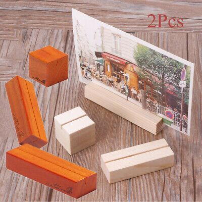 Party Calendar Clamps Stand Photo Clips Wooden Card Holders Wedding Ornaments