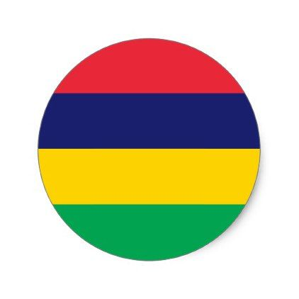 Mauritius Flag Classic Round Sticker Zazzle Com Island Crafts