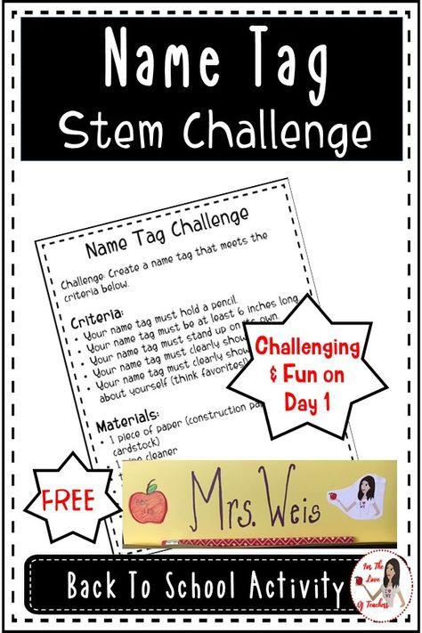 Name Tag Stem Challenge