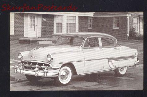 1954 Chevrolet Bel Air Chevy 4 Door Vintage Car Dealer Advertising