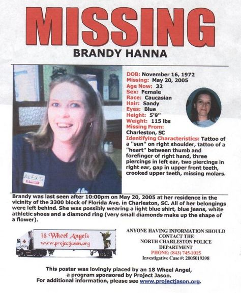 Recent missing persons brandy hanna Missing persons 2014 - missing child poster template