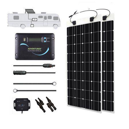 Renogy 320 Watt 12 Volt Solar Rv Kit With Ultra Flexible Solar Panel Advanturer Controller And Bt Module Walmart Com Flexible Solar Panels Monocrystalline Solar Panels Solar Energy Panels